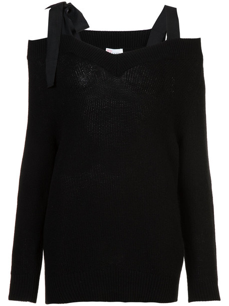 RED VALENTINO jumper women black wool sweater