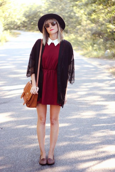 peter pan collar preppy steffy's pros and cons shoes burgundy jacket
