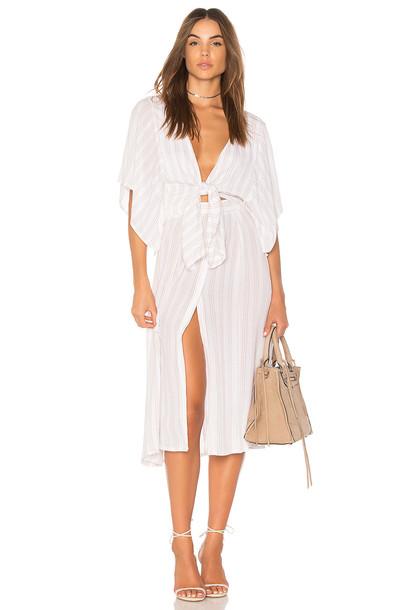 FAITHFULL THE BRAND dress midi dress midi white