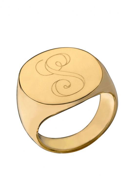 Jennifer Zeuner Initial Signet Ring | SINGER22.com