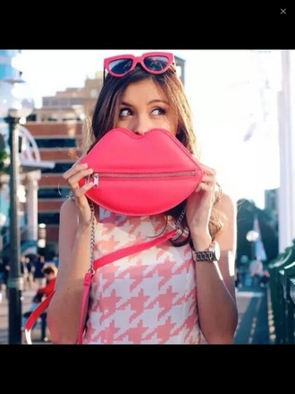 bag lips pink cute