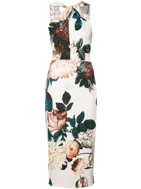 Sachin & Babi dress women floral white print