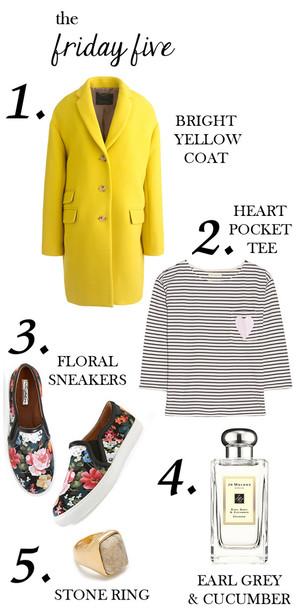 m loves m blogger stripes yellow coat vans floral