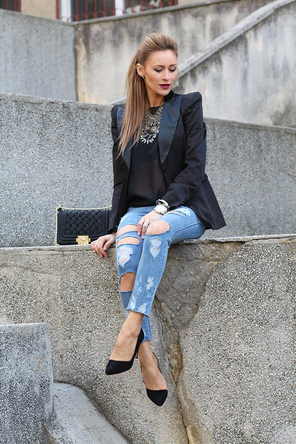 fashion spot blouse jeans shoes bag coat jewels