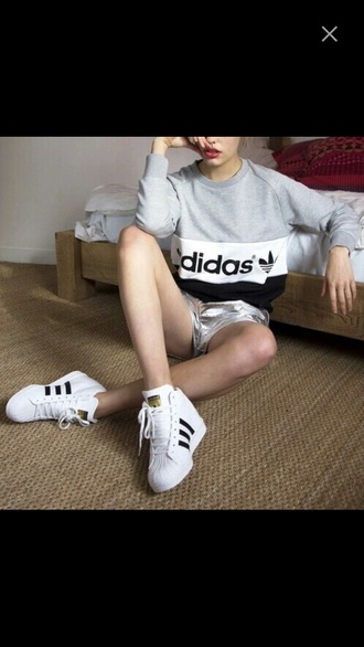 sweater sweatshirt adidas wings black dress cool fashion tumblr outfit
