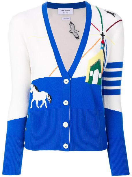 Thom Browne cardigan cardigan women nude sweater