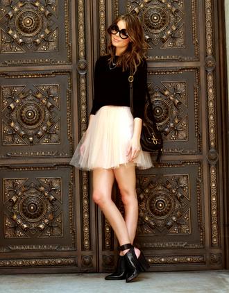 skirt tutu black chiffon classy