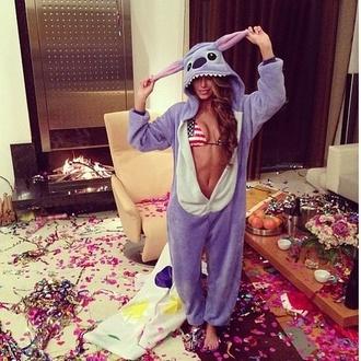 jacket onesie disney cartoon animation lilo and stitch cute america bikini party outfits pajamas sleep slippers