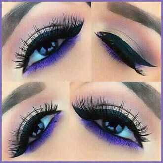 sunglasses purple make-up catliner matte false eyelashes