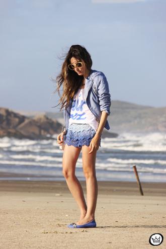 fashion coolture shorts t-shirt jacket sunglasses