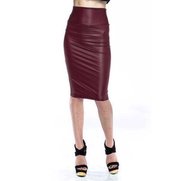 skirt oxblood skirt oxblood faux leather burgandy leather skirt sylvi label knee length skirt