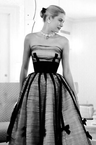 dress tube dress grace kelly gown necklace hairstyles actress retro dress retro