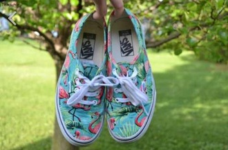 shoes vans flamingo