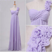 lavender dress,handmade dress,empire dress,chiffon dress,long dress,bridesmaid,homecoming dress