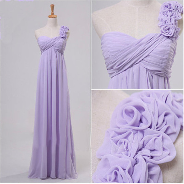 lavender dress lavender dress handmade dress empire dress chiffon dress long dress bridesmaid bridesmaid homecoming dress homecoming dress