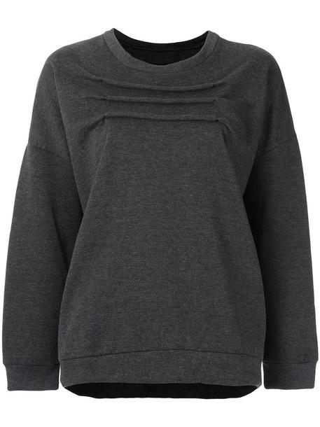 Uma Raquel Davidowicz - round neck sweatshirt - women - Cotton/Polyester - PP, Grey, Cotton/Polyester