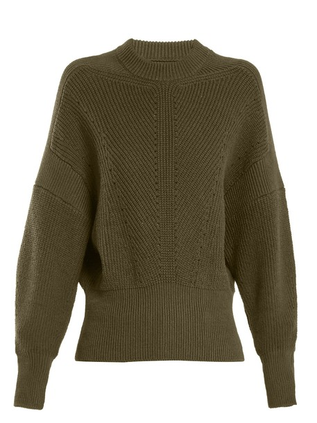 Isabel Marant sweater cotton knit khaki