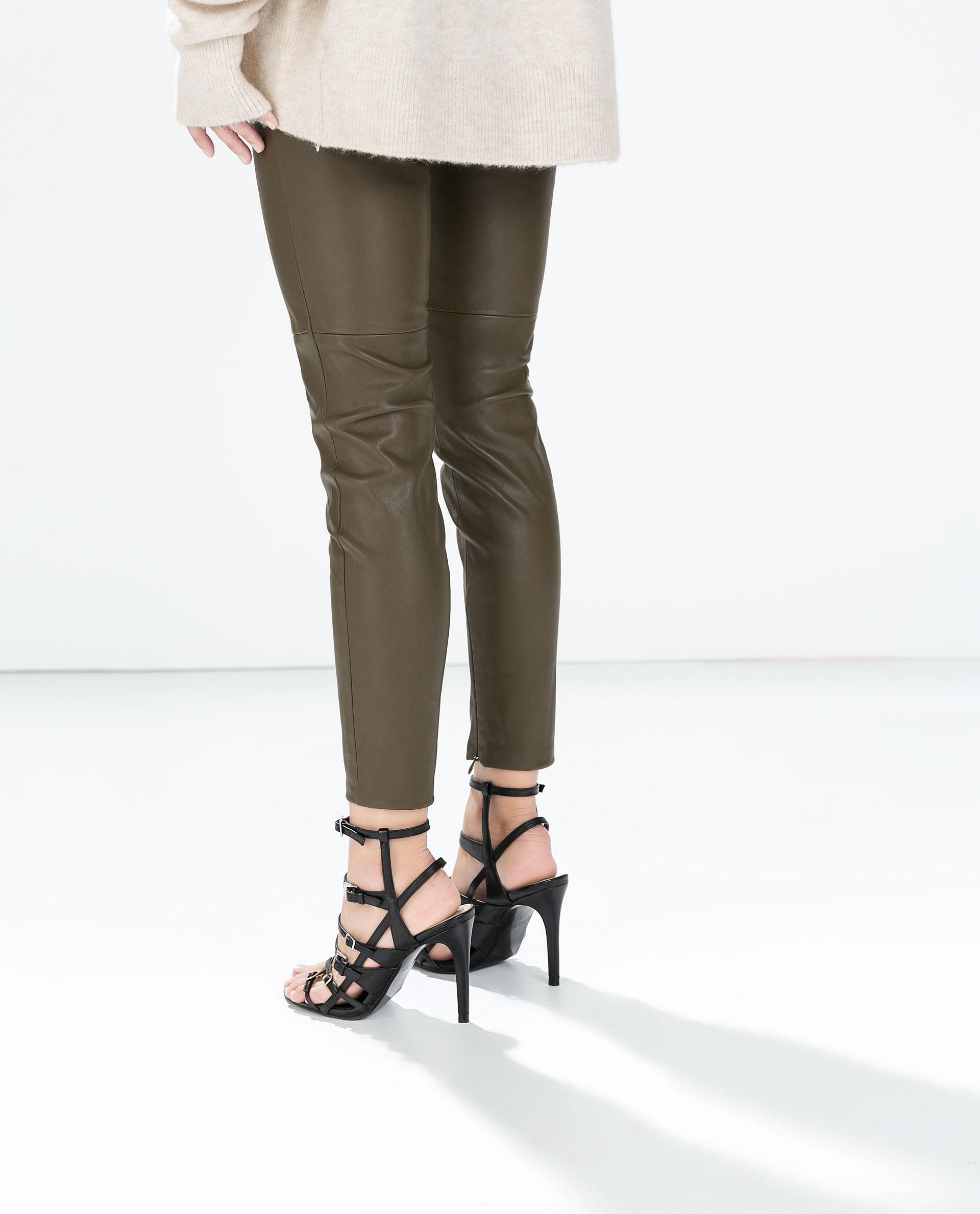 Legging Mujer Ss15 Polipiel Pantalones Rodilla Corte Colección htsxQrdCB