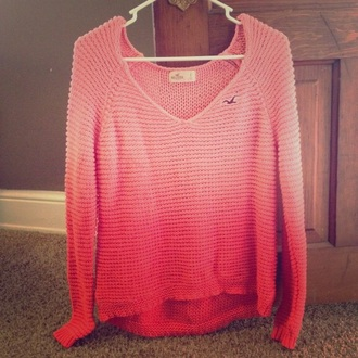 sweater ombre pink ombre sweater