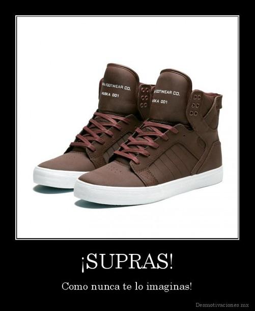 shoes brown supras