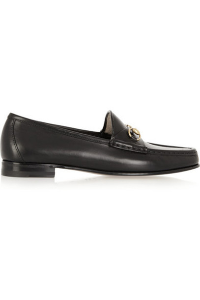 gucci loafers leather black shoes