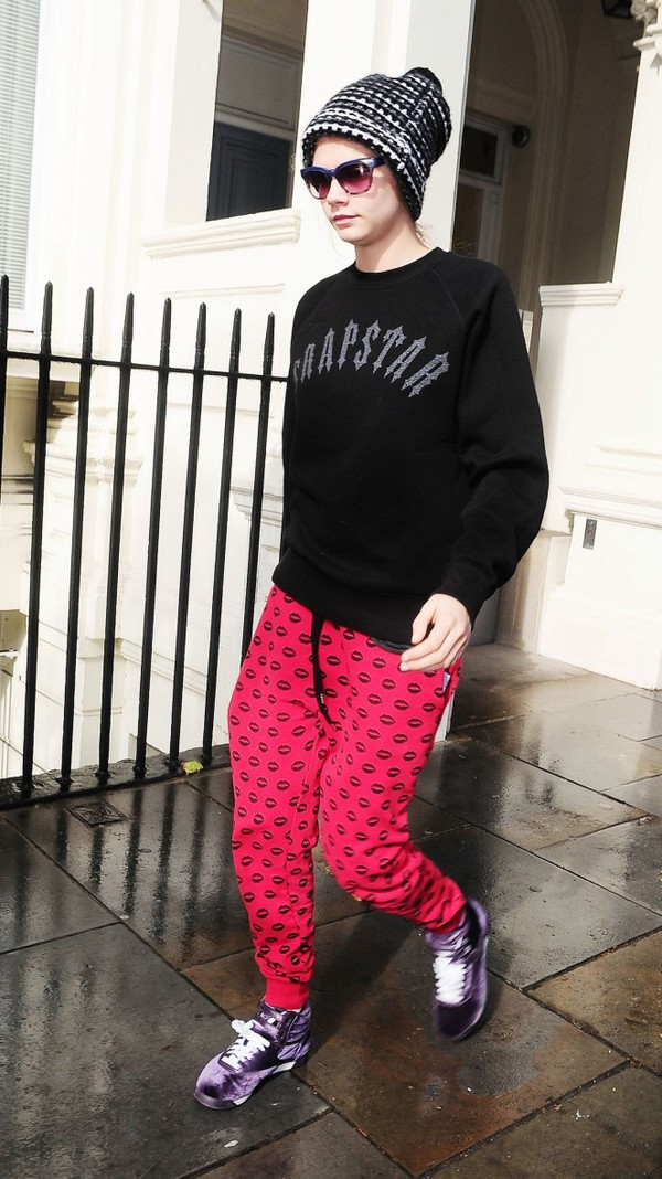 pants cara delevingne streetstyle