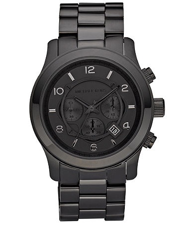 Michael Kors Men's Runway Black Ion Plated Stainless Steel Bracelet Watch 45mm MK8157 - Watches - Jewelry & Watches - Macy's