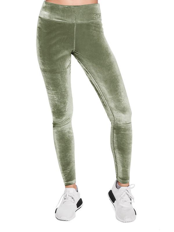 leggings velvet victoria's secret pink by victorias secret velvet pants workout leggings workout sports leggings sportswear fitness pants fit fitness yoga pants new