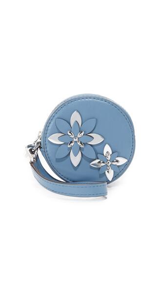 denim pouch flowers bag