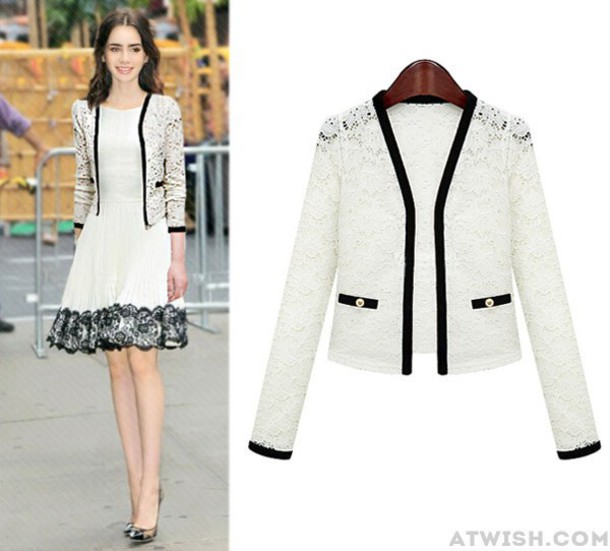 top jacket fashion women hollow out