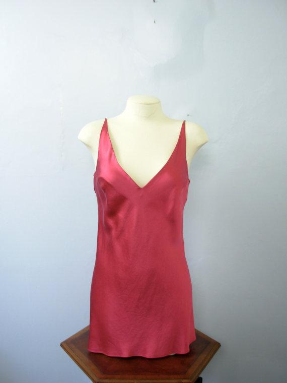 22f63c9bf466f Vintage 90 s pink silk slip