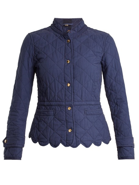 Burberry jacket quilted cotton blue