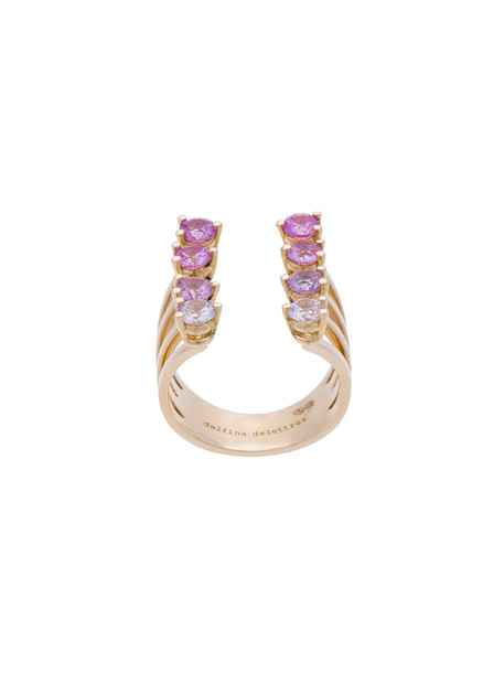 Delfina Delettrez women ring gold pink yellow grey metallic jewels