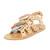 Zimmermann Link Tassel Flat Sandals - Natural Tan/Multi