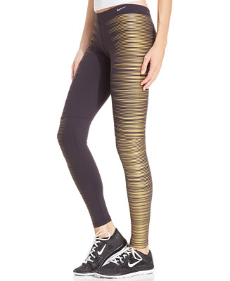 Nike flash printed reflective dri fit running tights