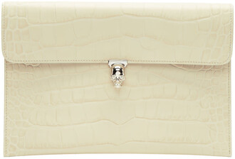 envelope clutch skull clutch white off-white bag