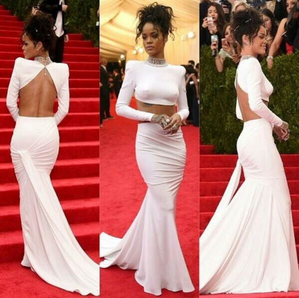 Aliexpress.com : buy high collar beaded open back two piece white evening dress prom dresses 2014 sexy long mermaid dresses from reliable dress patterns prom dresses suppliers on redapple dress store