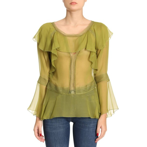 Alberta Ferretti top women green