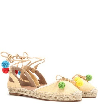 beach espadrilles beige shoes