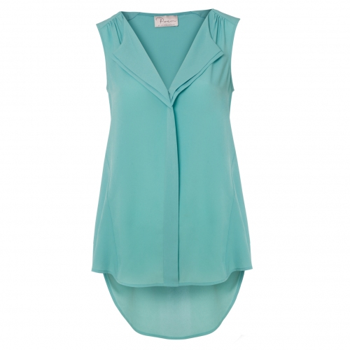 a4a400d8ef88 Aqua Drape Shirt by Poem | Poem Clothing, Fashion Winter & Party Dresses &  T Shirts ...