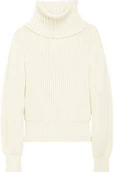 Antonio Berardi Chunky-knit wool turtleneck sweater - 68% Off Now at THE OUTNET