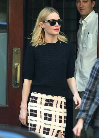 skirt top kate bosworth sunglasses