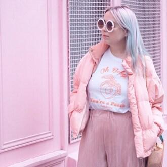 t-shirt yeah bunny peach pastel fruits cute peach babe babe
