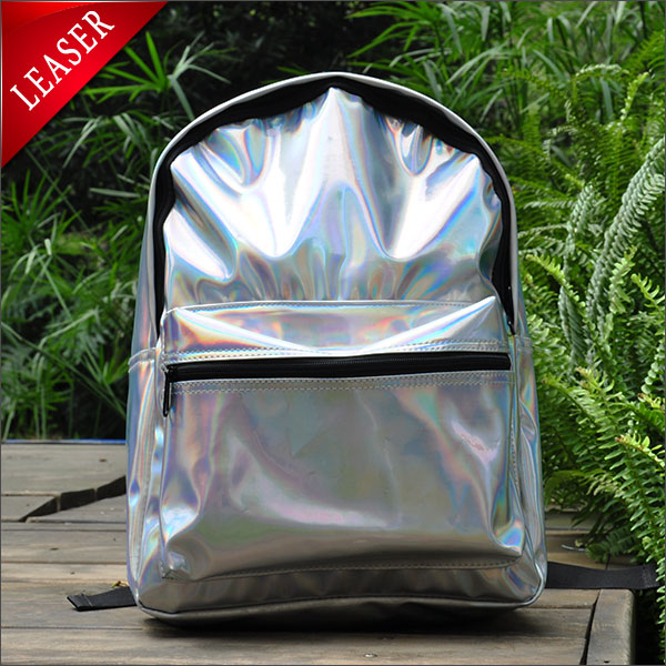 Double Layer 2014 Hologram Laser Bag Backpack Shoulder Silver School Bag Girl Colorful Laser Bag Metal Women Rainbow Harajuku-in Casual Daypacks from Luggage & Bags on Aliexpress.com