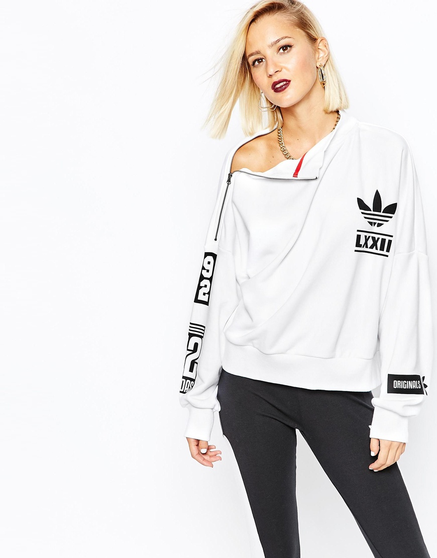 adidas originals berlin high neck sweatshirt at. Black Bedroom Furniture Sets. Home Design Ideas