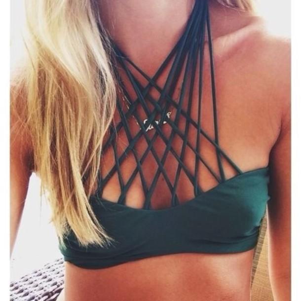 swimwear bikini string top