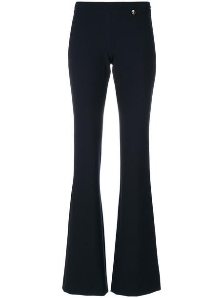 Versace Collection women spandex cotton blue pants