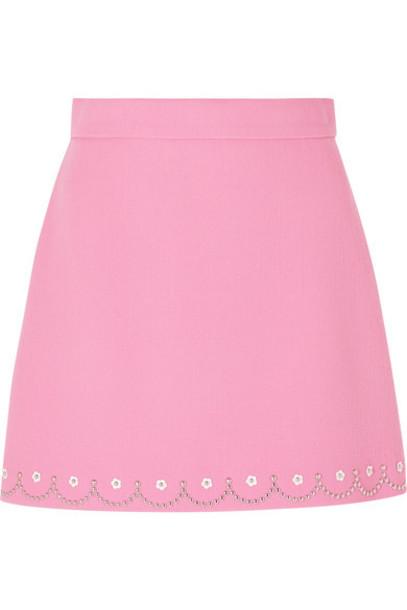Miu Miu skirt mini skirt mini embellished wool