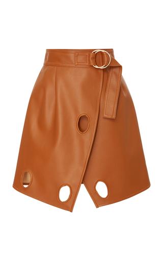 Wrap-Effect Cutout Faux Leather Mini Skirt by Self Portrait | Moda Operandi