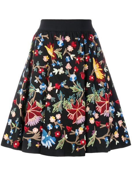Alice+Olivia skirt women spandex cotton black